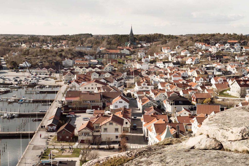 Fiskarsamhället Grebbestad i Bohuslän