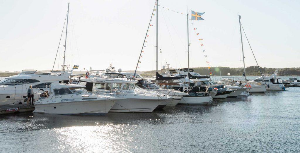 Gästhamn på sommaren i Grebbestad