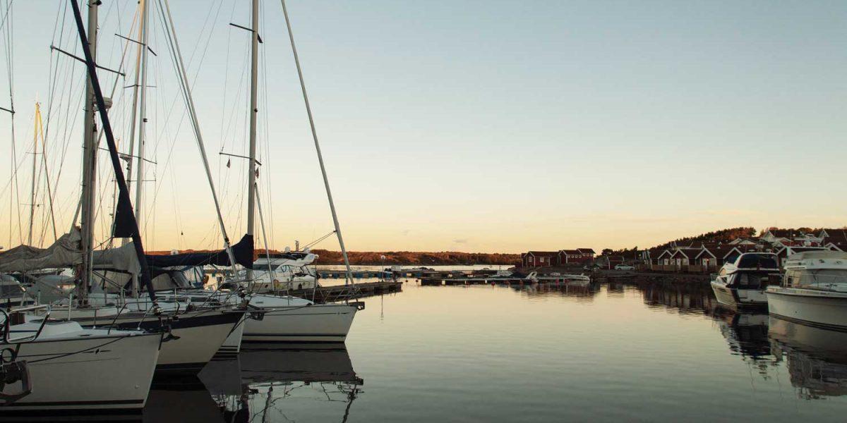 Boka gästhamn nära Grebbestad i Bohuslän på Västkusten