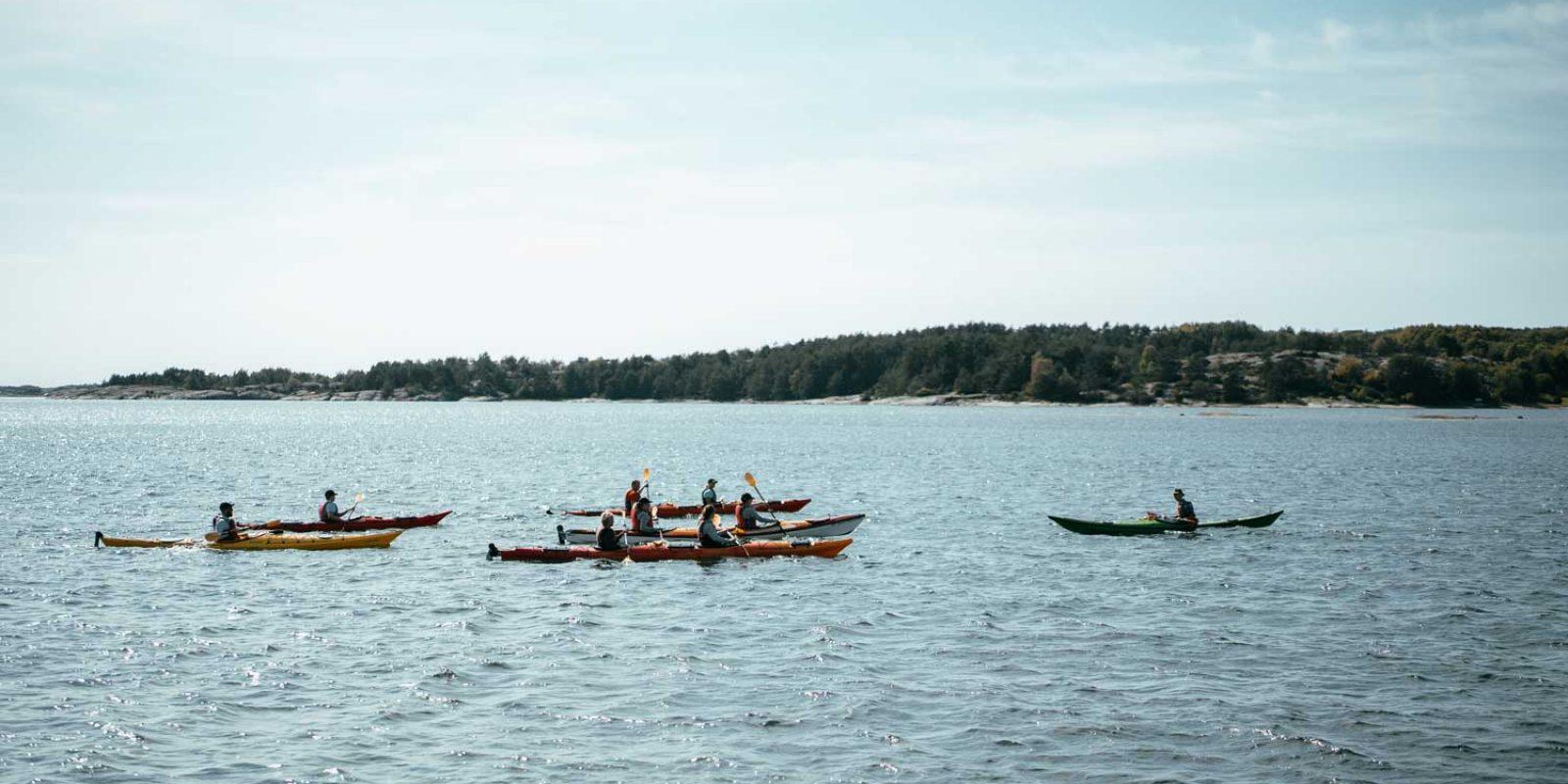 Paket med kajakpaddling i Sverige
