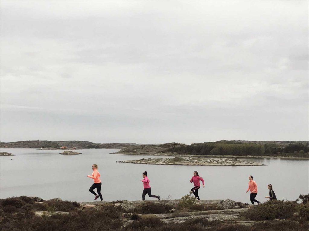 Träningsweekend vid havet på den svenska västkusten