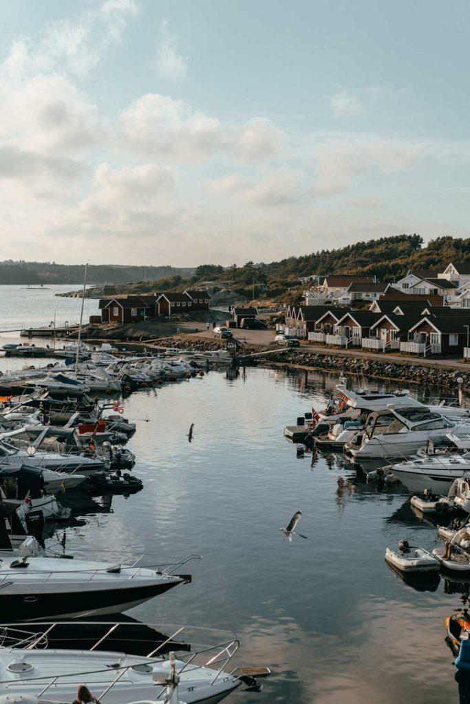 Gästhamn nära Fjällbacka på Västkusten