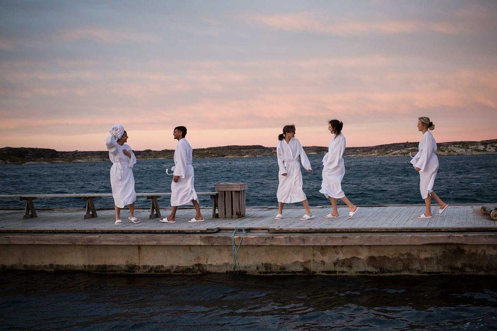 Havsbastu vid havet i Bohuslän