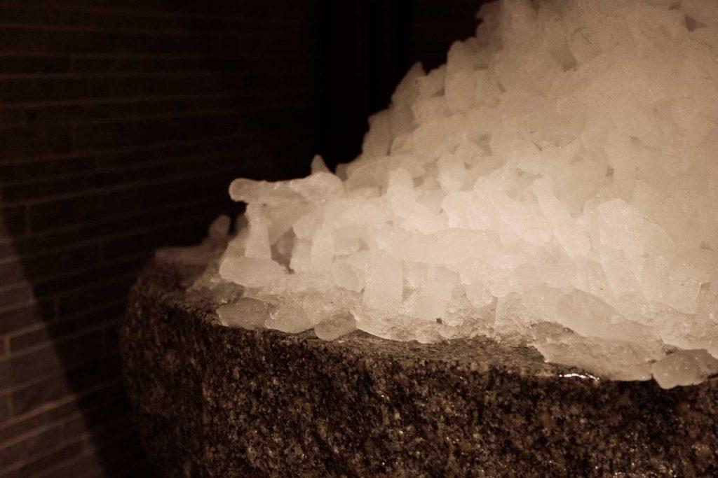 Isskrubb på spahotell på Västkusten