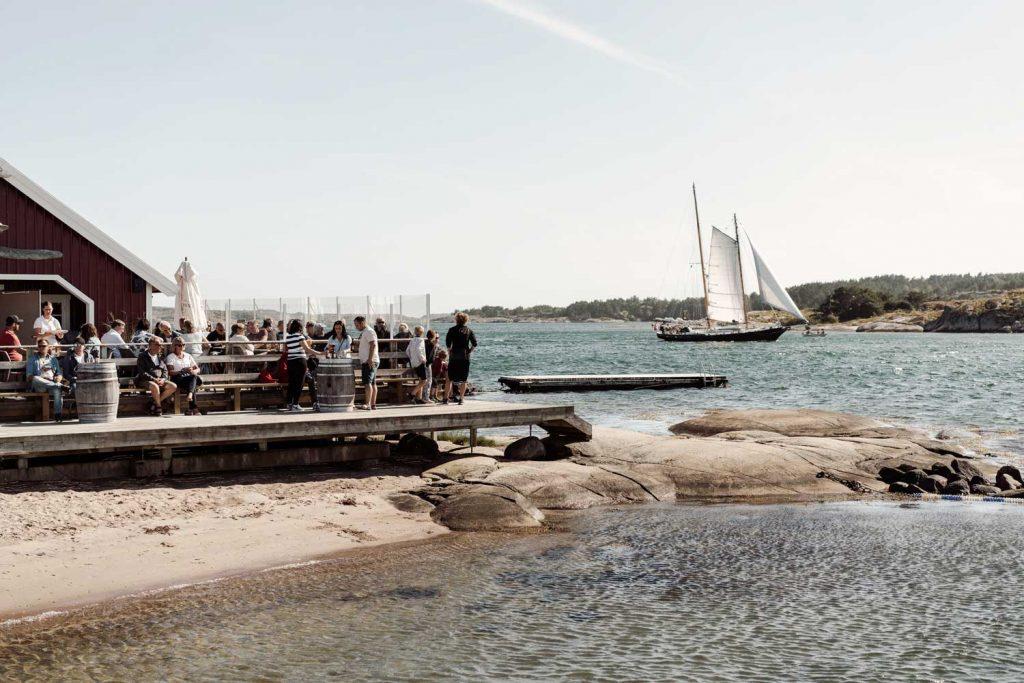 Pizzeria Udden nära Grebbestad och Fjällbacka en vacker sommardag