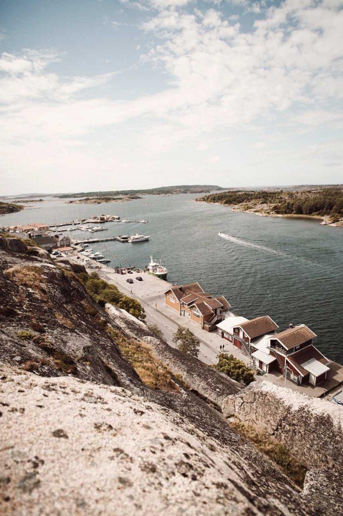 Grebbestad i norra Bohuslän på Västkusten i Sverige