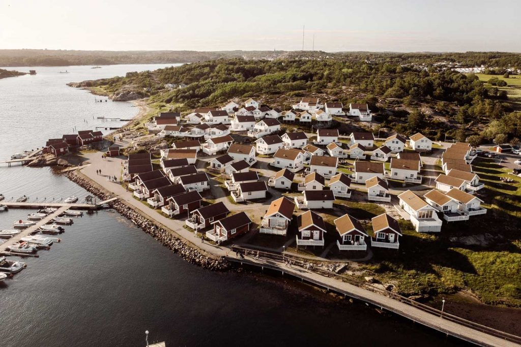 Cabins by the sea in the beautiful Swedish archipelago of West Sweden